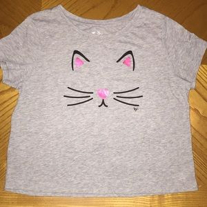 Justice size 12 Kitty crop top. Like new!
